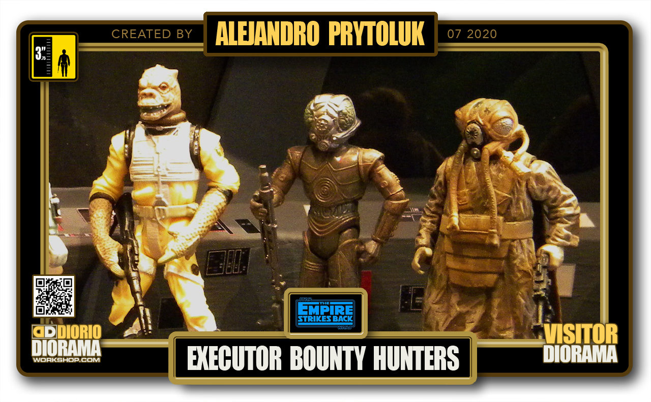 VISITORS HD FULLSCREEN DIORAMA • ALEJANDRO PRYTOLUK • STAR WARS EPISODE V • EXECUTOR BRIDGE BOUNTY HUNTERS