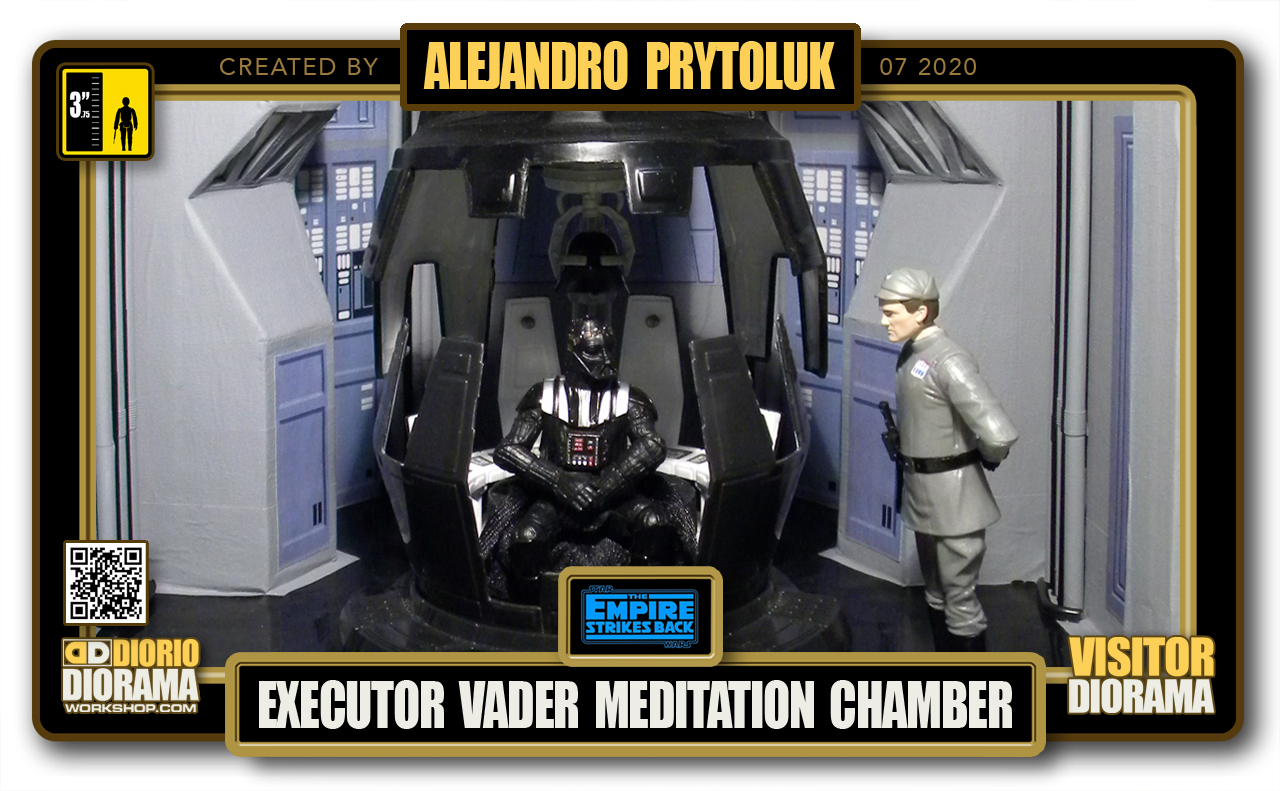 VISITORS HD FULLSCREEN DIORAMA • ALEJANDRO PRYTOLUK • STAR WARS EPISODE V • EXECUTOR DARTH VADER MEDITATION CHAMBER