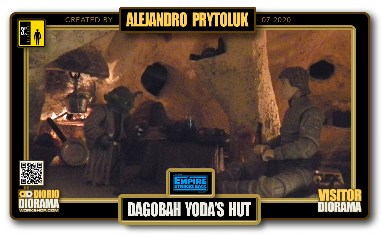 VISITORS HD FULLSCREEN DIORAMA • ALEJANDRO PRYTOLUK • STAR WARS EPISODE V • DAGOBAH YODA'S HUT