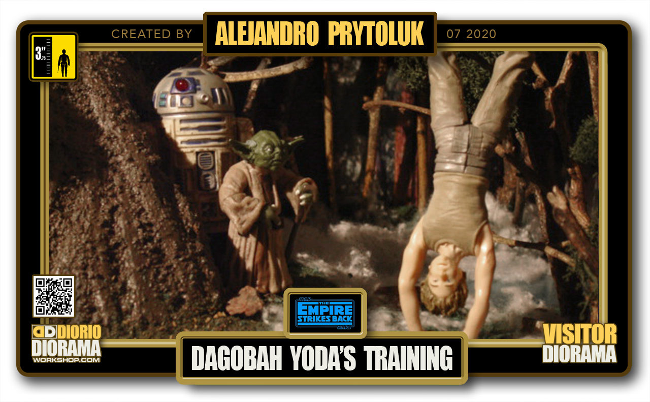 VISITORS HD FULLSCREEN DIORAMA • ALEJANDRO PRYTOLUK • STAR WARS EPISODE V • DAGOBAH YODA'S TRAINING
