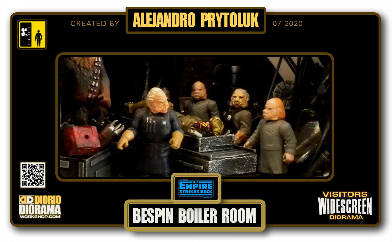VISITORS HD WIDESCREEN DIORAMA • ALEJANDRO PRYTOLUK • STAR WARS EPISODE V • BESPIN BOILER ROOM