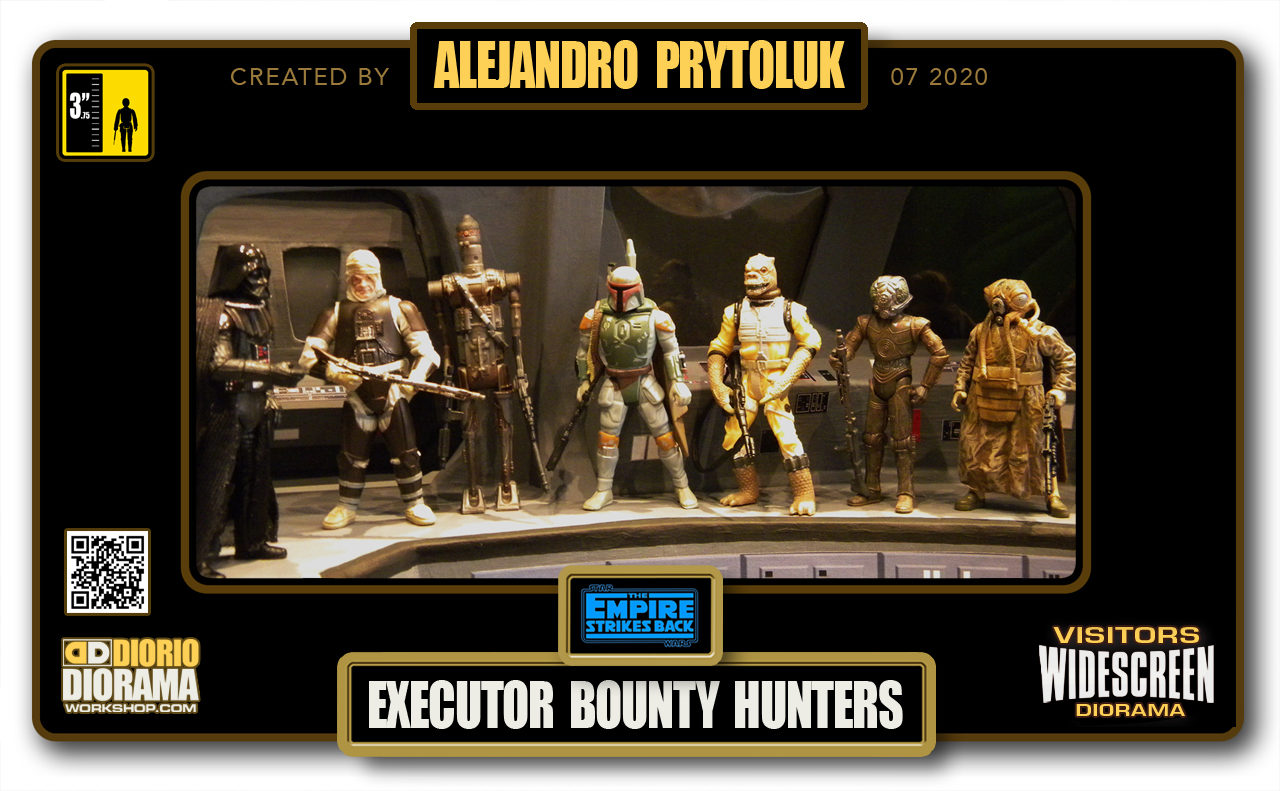 VISITORS HD WIDESCREEN DIORAMA • ALEJANDRO PRYTOLUK • STAR WARS EPISODE V • EXECUTOR BRIDGE BOUNTY HUNTERS