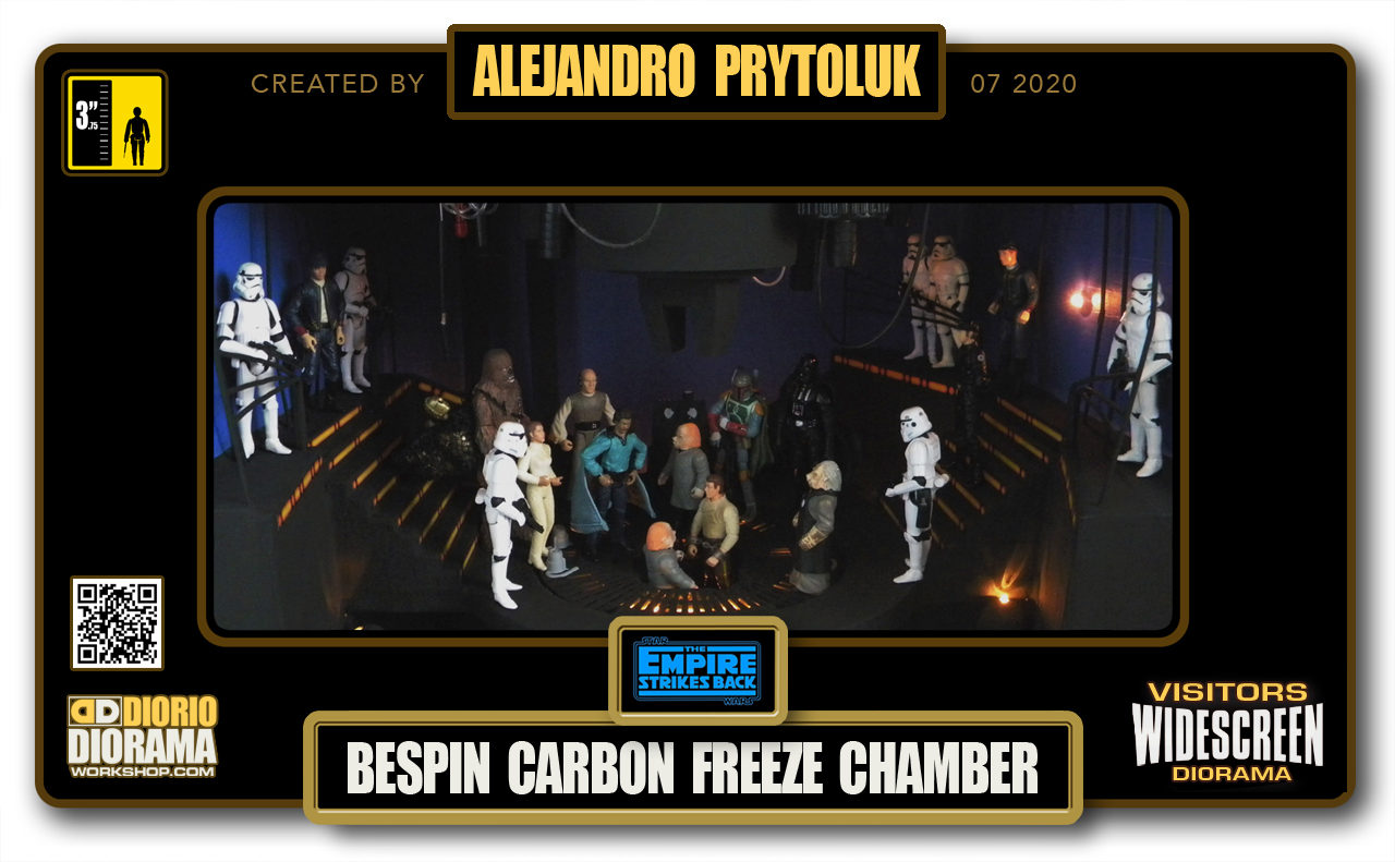 VISITORS HD WIDESCREEN DIORAMA • ALEJANDRO PRYTOLUK • STAR WARS EPISODE V • BESPIN CARBON FREEZE CHAMBER