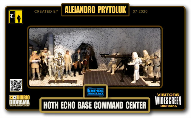 VISITORS HD WIDESCREEN DIORAMA • ALEJANDRO PRYTOLUK • STAR WARS EPISODE V • HOTH ECHO BASE COMMAND CENTER