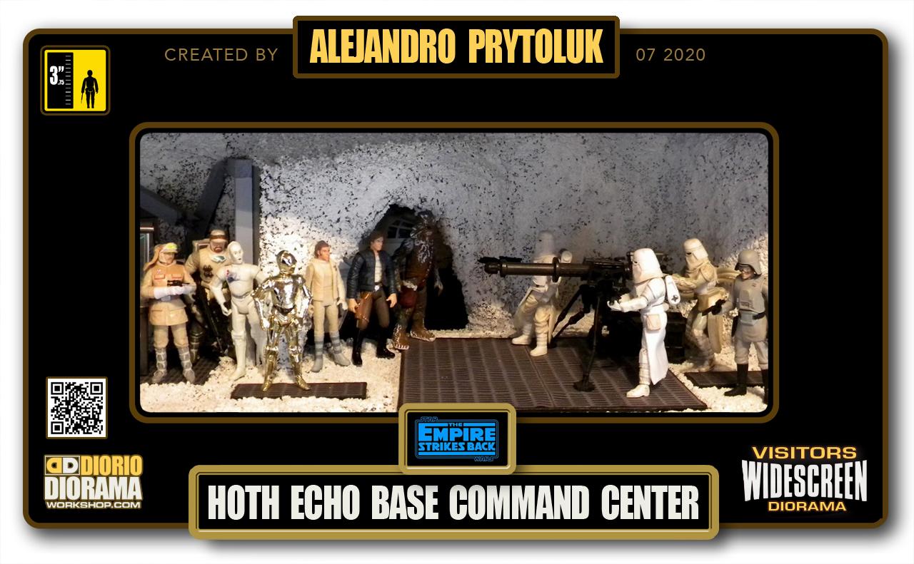 VISITORS HD WIDESCREEN DIORAMA • ALEJANDRO PRYTOLUK • STAR WARS EPISODE V • HOTH ECHO BASE COMMAND CENTER