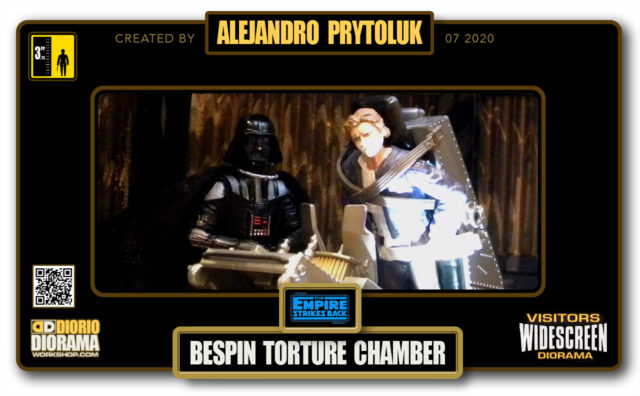 VISITORS HD WIDESCREEN DIORAMA • ALEJANDRO PRYTOLUK • STAR WARS EPISODE V • BESPIN TORTURE CHAMBER