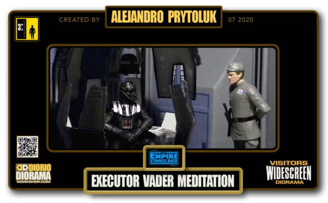 VISITORS HD WIDESCREEN DIORAMA • ALEJANDRO PRYTOLUK • STAR WARS EPISODE V • EXECUTOR DARTH VADER MEDITATION CHAMBER