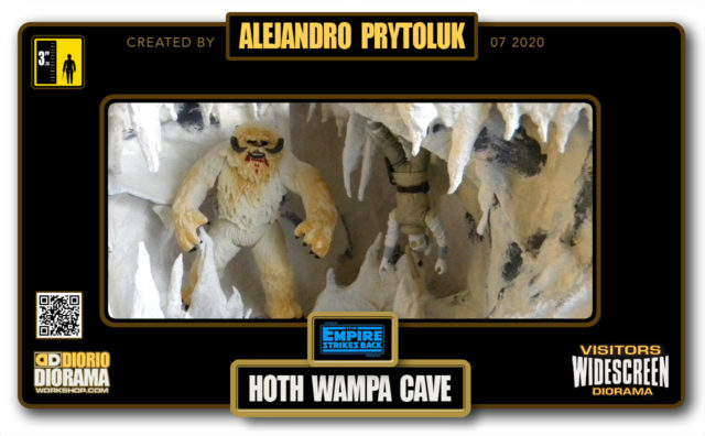 VISITORS HD WIDESCREEN DIORAMA • ALEJANDRO PRYTOLUK • STAR WARS EPISODE V • HOTH WAMPA CAVE