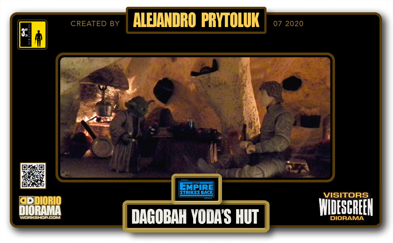 VISITORS HD WIDESCREEN DIORAMA • ALEJANDRO PRYTOLUK • STAR WARS EPISODE V • DAGOBAH YODA'S HUT