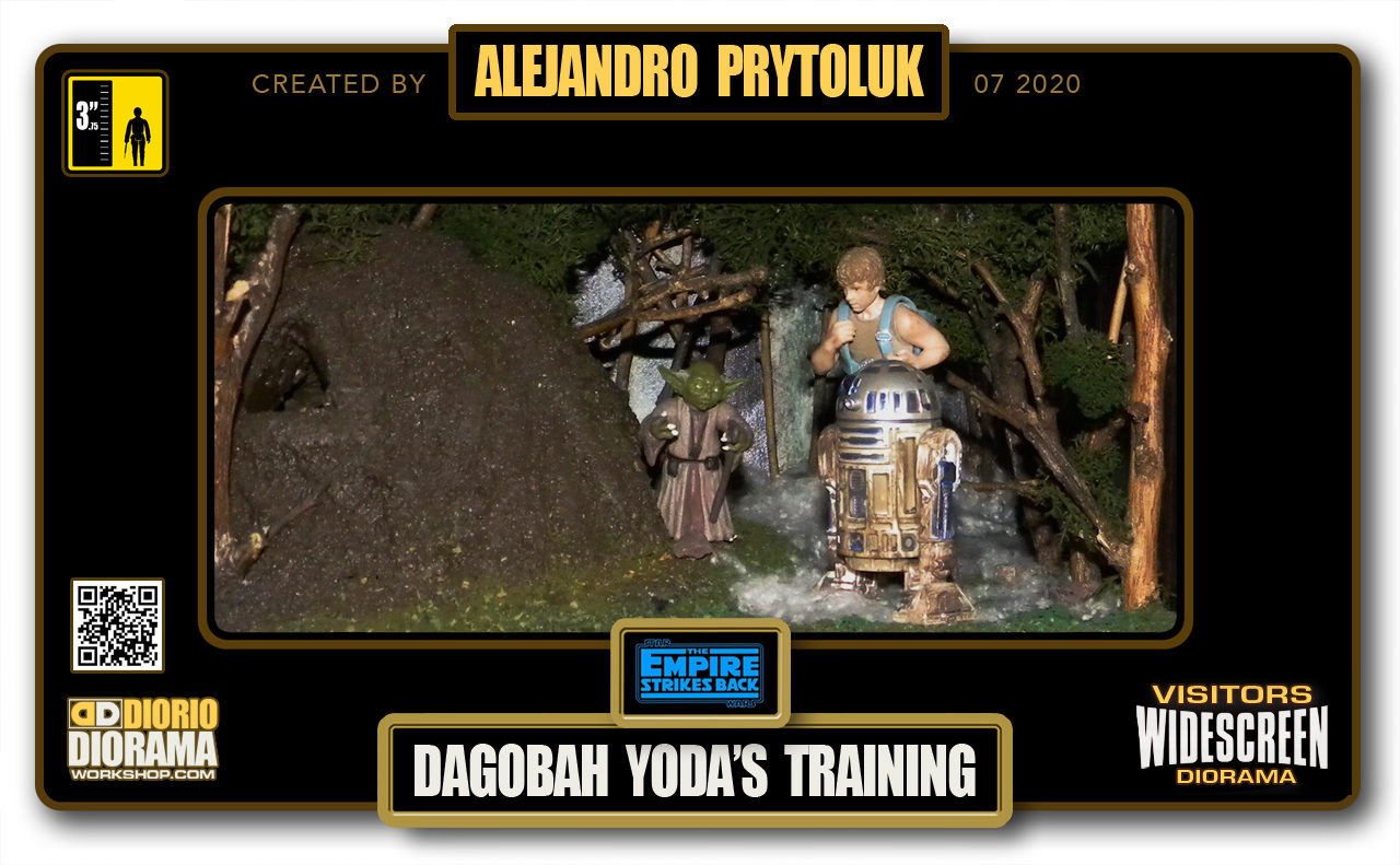 VISITORS HD WIDESCREEN DIORAMA • ALEJANDRO PRYTOLUK • STAR WARS EPISODE V • DAGOBAH YODA TRAINING