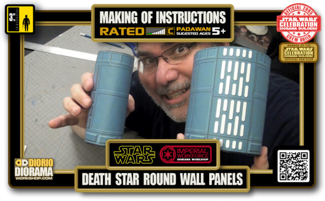 TUTORIALS • MAKING OF • DEATH STAR • HALWAY ROUND WALL PANELS 2020