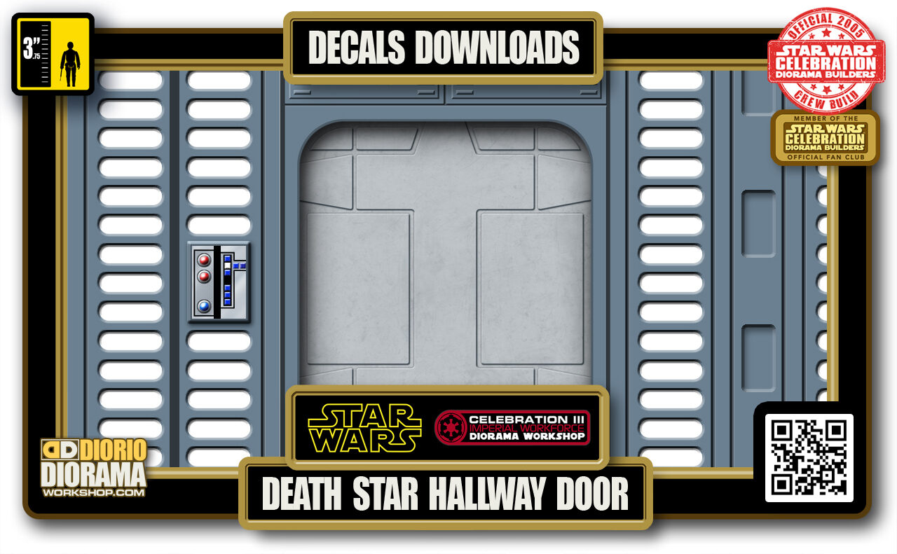 TUTORIALS • DECALS • DEATH STAR • HALLWAY DOOR