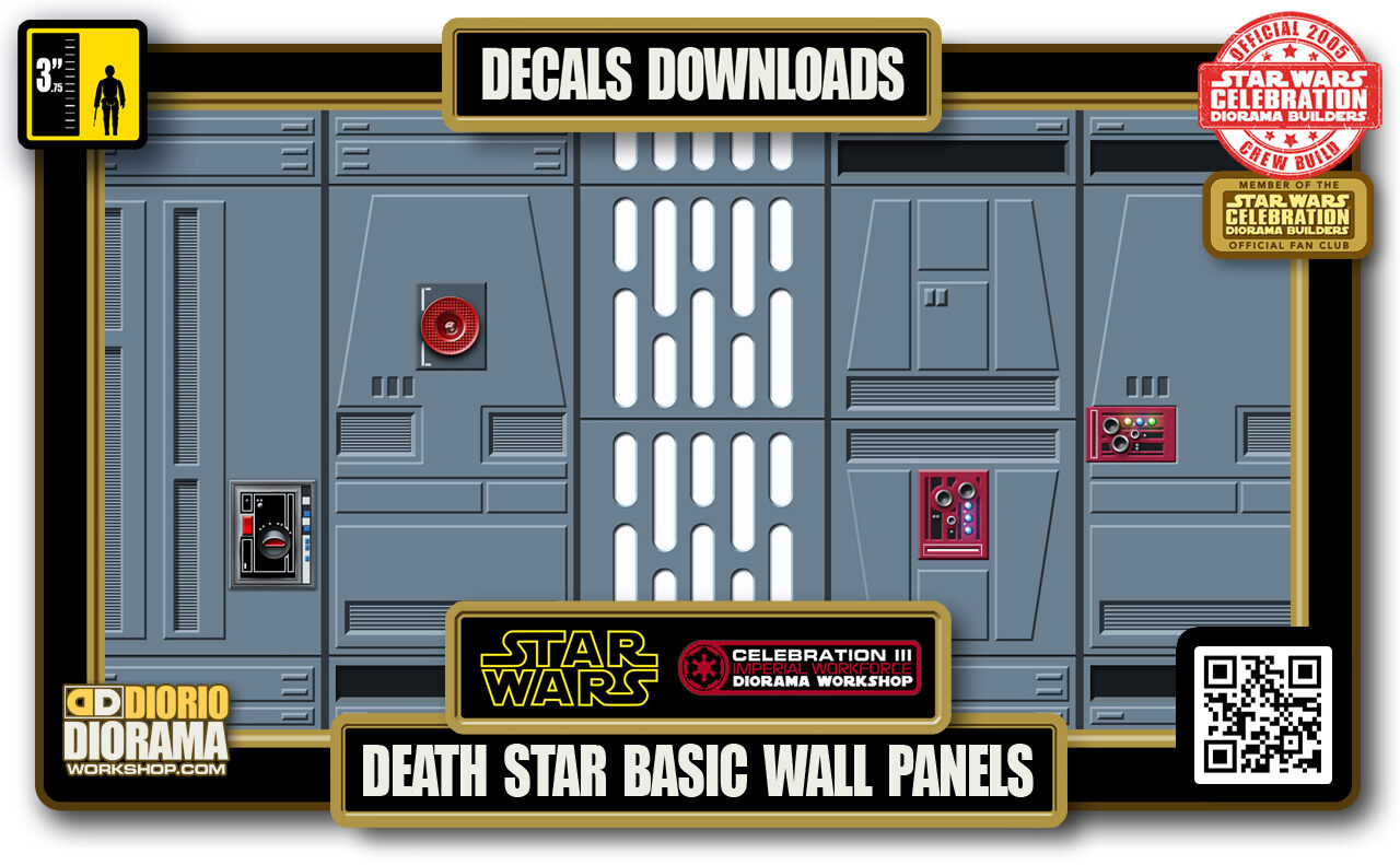 TUTORIALS • DECALS • DEATH STAR • HALLWAY BASIC WALL PANELS