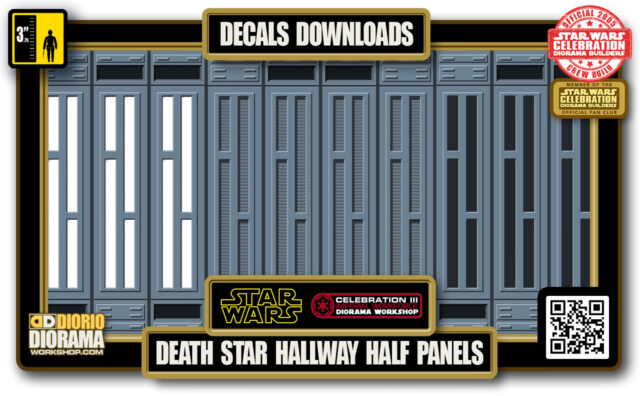 TUTORIALS • DECALS • DEATH STAR • HALLWAY HALF WALL PANELS
