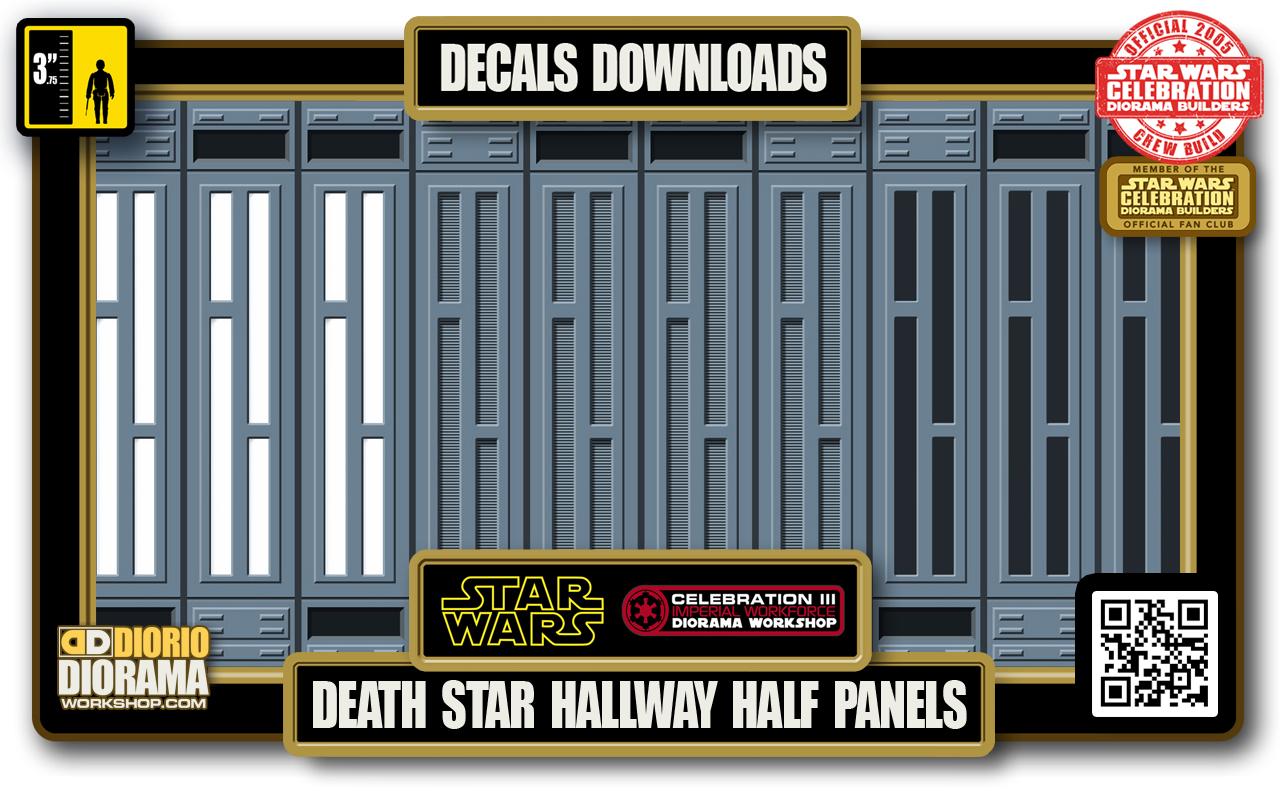 TUTORIALS • DECALS • DEATH STAR • HALLWAY HALF WALL PANELS