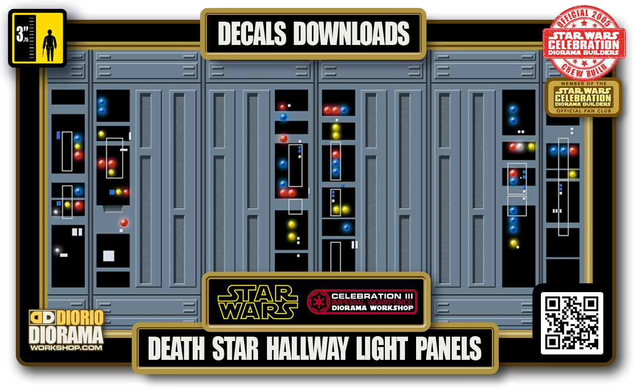 TUTORIALS • DECALS • DEATH STAR • HALLWAY LIGHT WALL PANELS