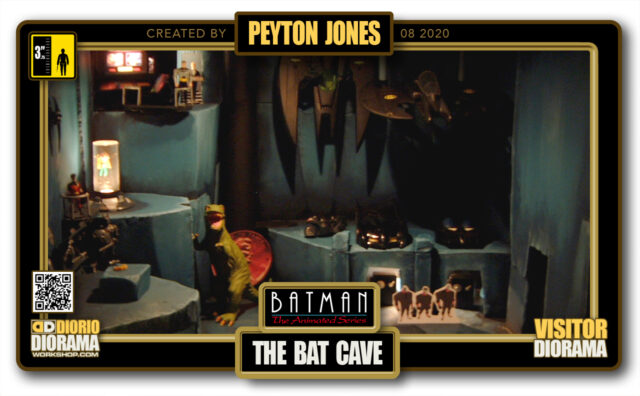 VISITORS HD FULLSCREEN DIORAMA • PEYTON JONES • BATMAN THE ANIMATED SERIES • BAT CAVE