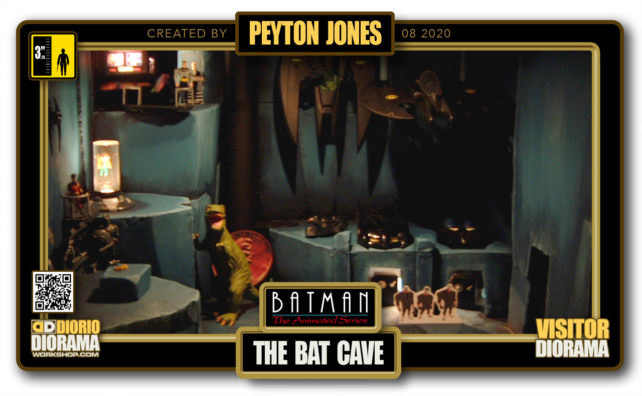 VISITORS HD FULLSCREEN DIORAMA • PEYTON JONES • BATMAN THE ANIMATED SERIES • BAT CAVE