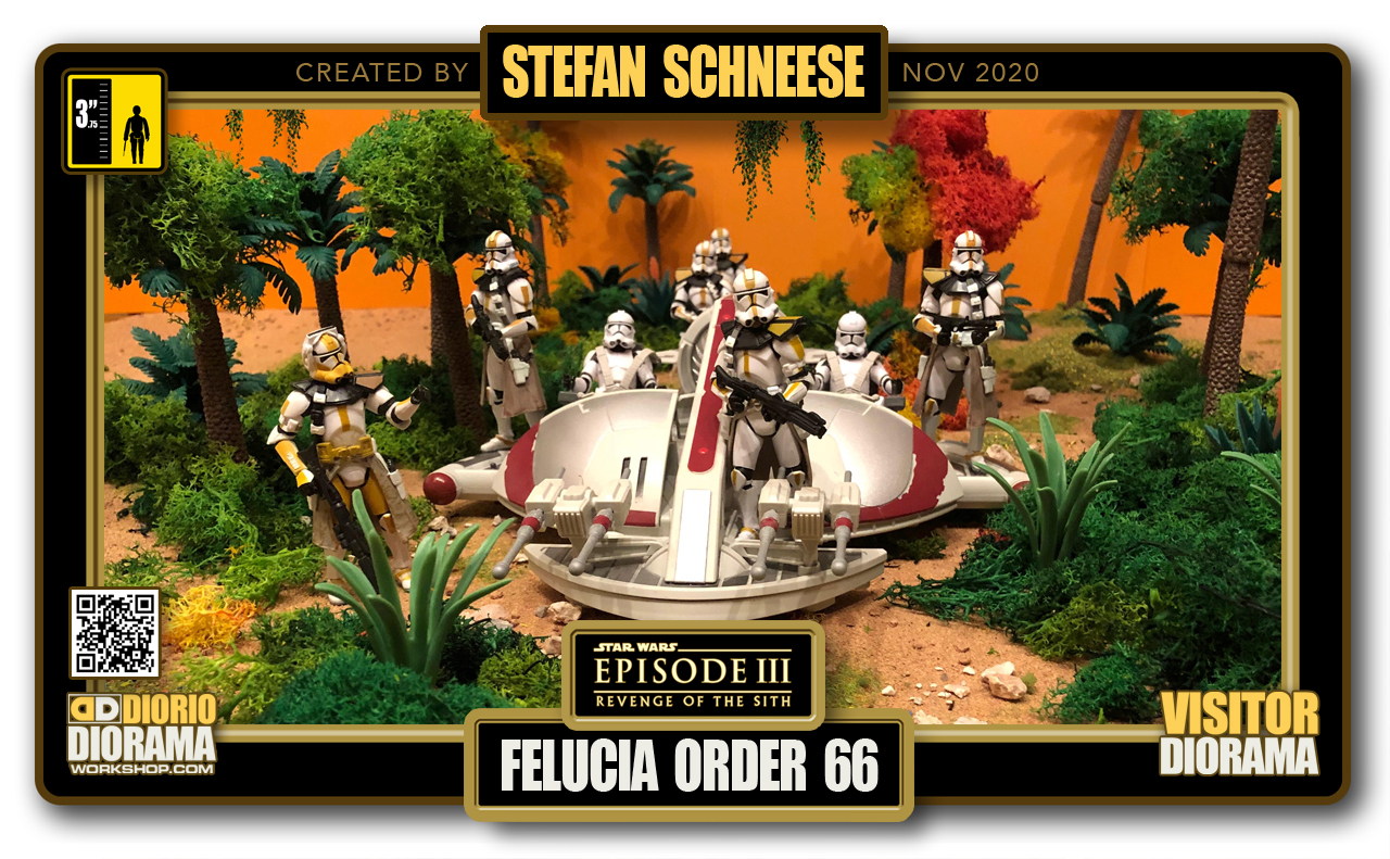 VISITORS HD FULLSCREEN DIORAMA • STEFAN SCHNEESE • STAR WARS EPISODE III • FELUCIA ORDER 66