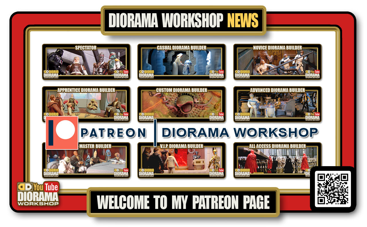 YOUTUBE DIORAMA WORKSHOP NEWS • PATREON • PATRON TIERS EXPLAINED