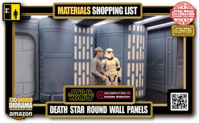 TUTORIAL • MATERIALS LIST • DEATH STAR HALLWAY ROUND PANELS