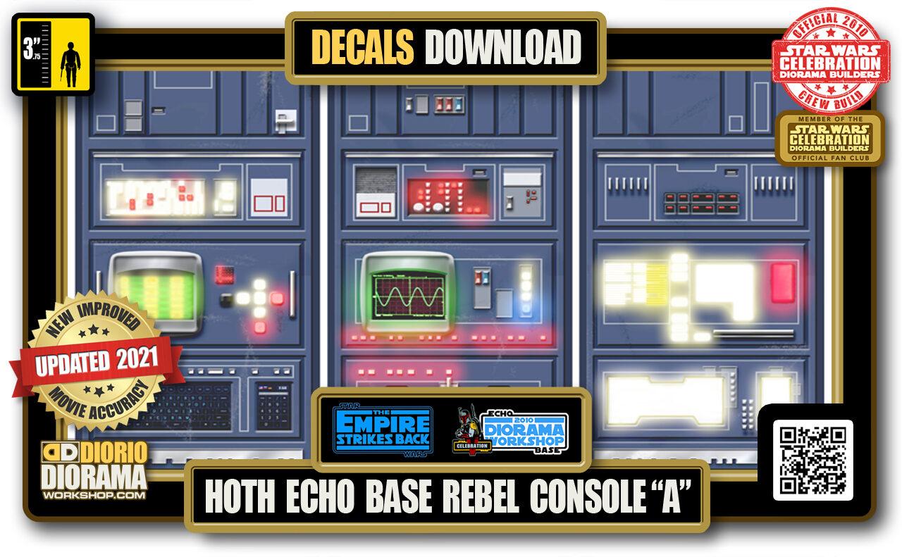 "TUTORIALS • DECALS • HOTH • ECHO BASE REBEL CONSOLE ""A"" 2021"