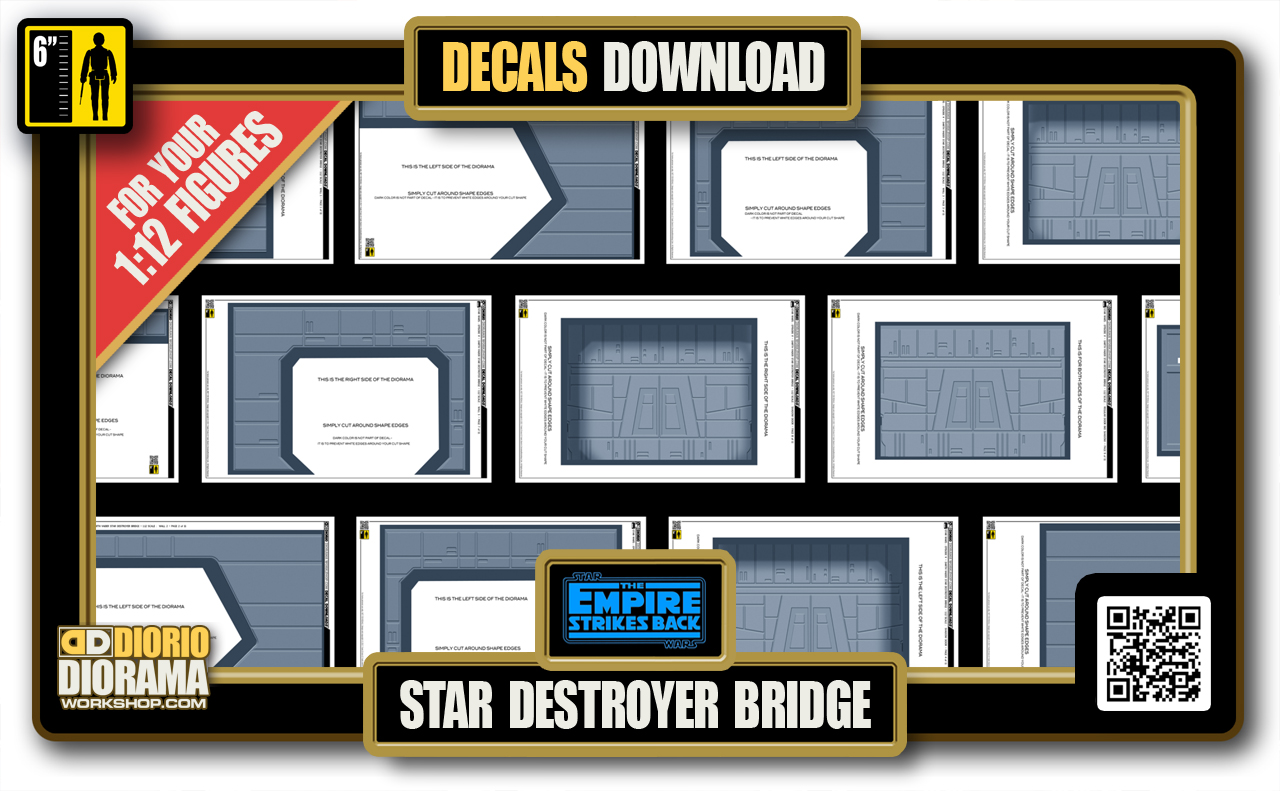 TUTORIALS • DECALS • STAR DESTROYER BRIDGE • 1:12 SCALE FOR 6INCH FIGURES