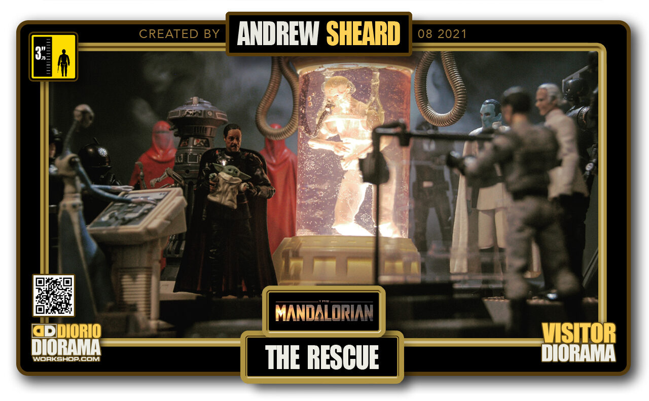 VISITORS HD FULLSCREEN DIORAMA • ANDREW SHEARD • STAR WARS MADALORIAN • THE RESCUE