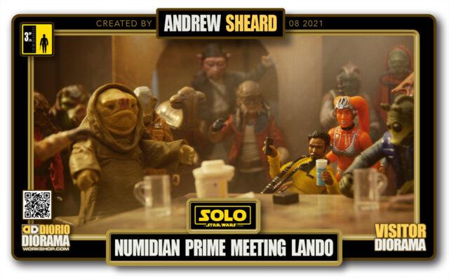 VISITORS HD FULLSCREEN DIORAMA • ANDREW SHEARD • STAR WARS SOLO • NUMIDIAN PRIME MEETING LANDO
