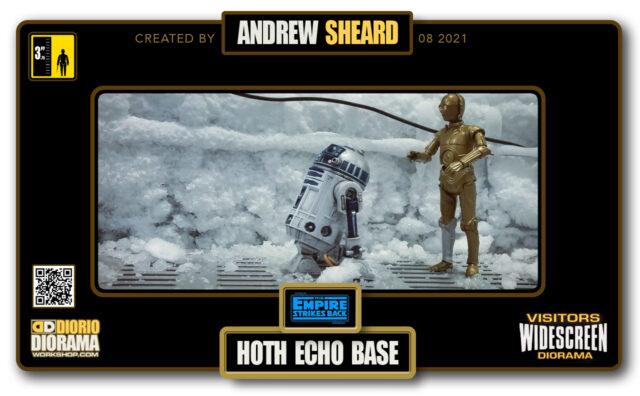 VISITORS HD WIDESCREEN DIORAMA • ANDREW SHEARD • STAR WARS EPISODE V • ECHO BASE