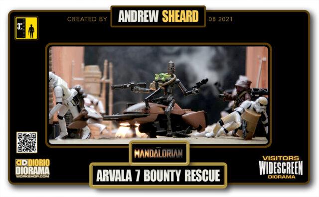 VISITORS HD WIDESCREEN DIORAMA • ANDREW SHEARD • STAR WARS MADALORIAN • ARVALA 7 BOUNTY RESCUE