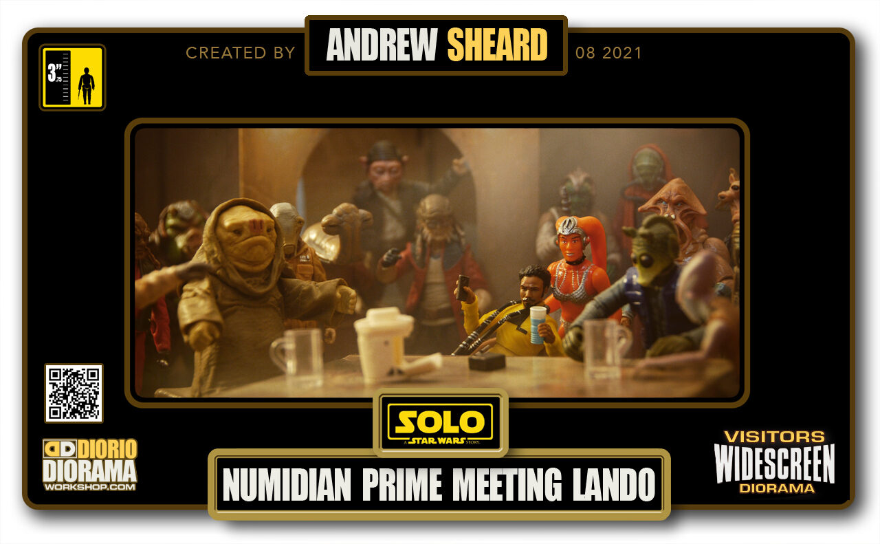VISITORS HD WIDESCREEN DIORAMA • ANDREW SHEARD • STAR WARS SOLO • NUMIDIAN PRIME MEETING LANDO