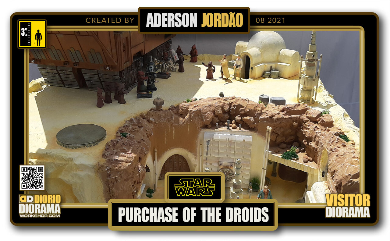 VISITORS HD FULLSCREEN DIORAMA • ADERSON JORDAO • STAR WARS EPISODE IV • PURCHASE OF THE DROIDS