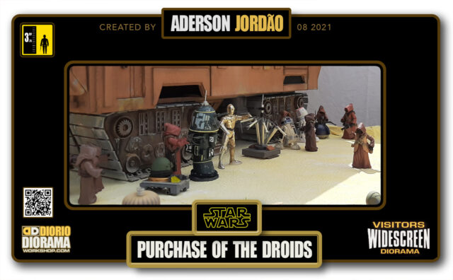 VISITORS HD WIDESCREEN DIORAMA • ADERSON JORDAO • STAR WARS EPISODE IV • PURCHASE OF THE DROIDS