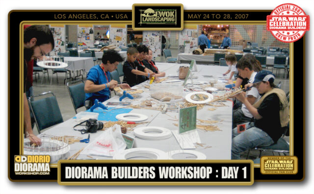 CONVENTIONS • STAR WARS CELEBRATION IV • PRODUCTION • EWOK LANDSCAPING DIORAMA BUILDERS WORKSHOP BOOTH  • DAY 1