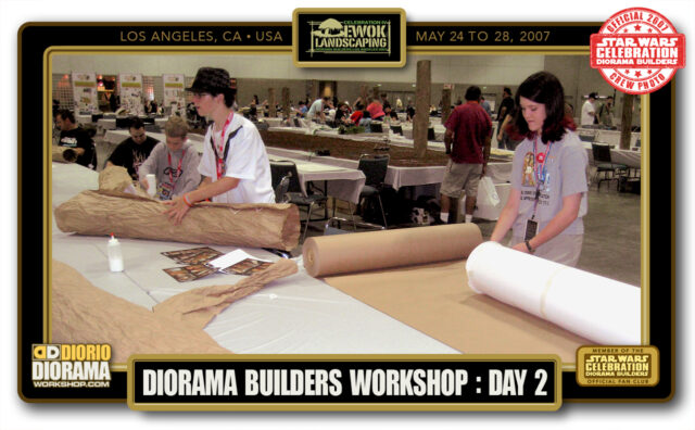 CONVENTIONS • STAR WARS CELEBRATION IV • PRODUCTION • EWOK LANDSCAPING DIORAMA BUILDERS WORKSHOP BOOTH  • DAY 2