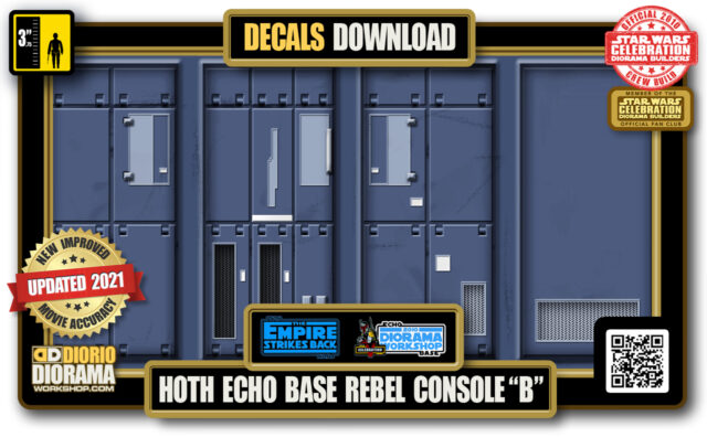 "TUTORIALS • DECALS • HOTH • ECHO BASE REBEL CONSOLE ""B"" 2021"