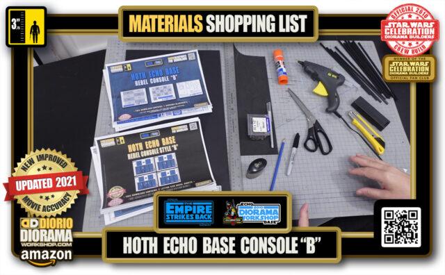 "TUTORIALS • MATERIALS LIST • HOTH • ECHO BASE CONSOLE ""B"""