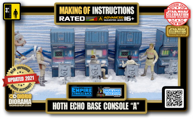 """TUTORIALS • MAKING OF • STEP BY STEP INSTRUCTIONS • STAR WARS EPISODE V • HOTH • ECHO BASE CONSOLE """"A"""""""