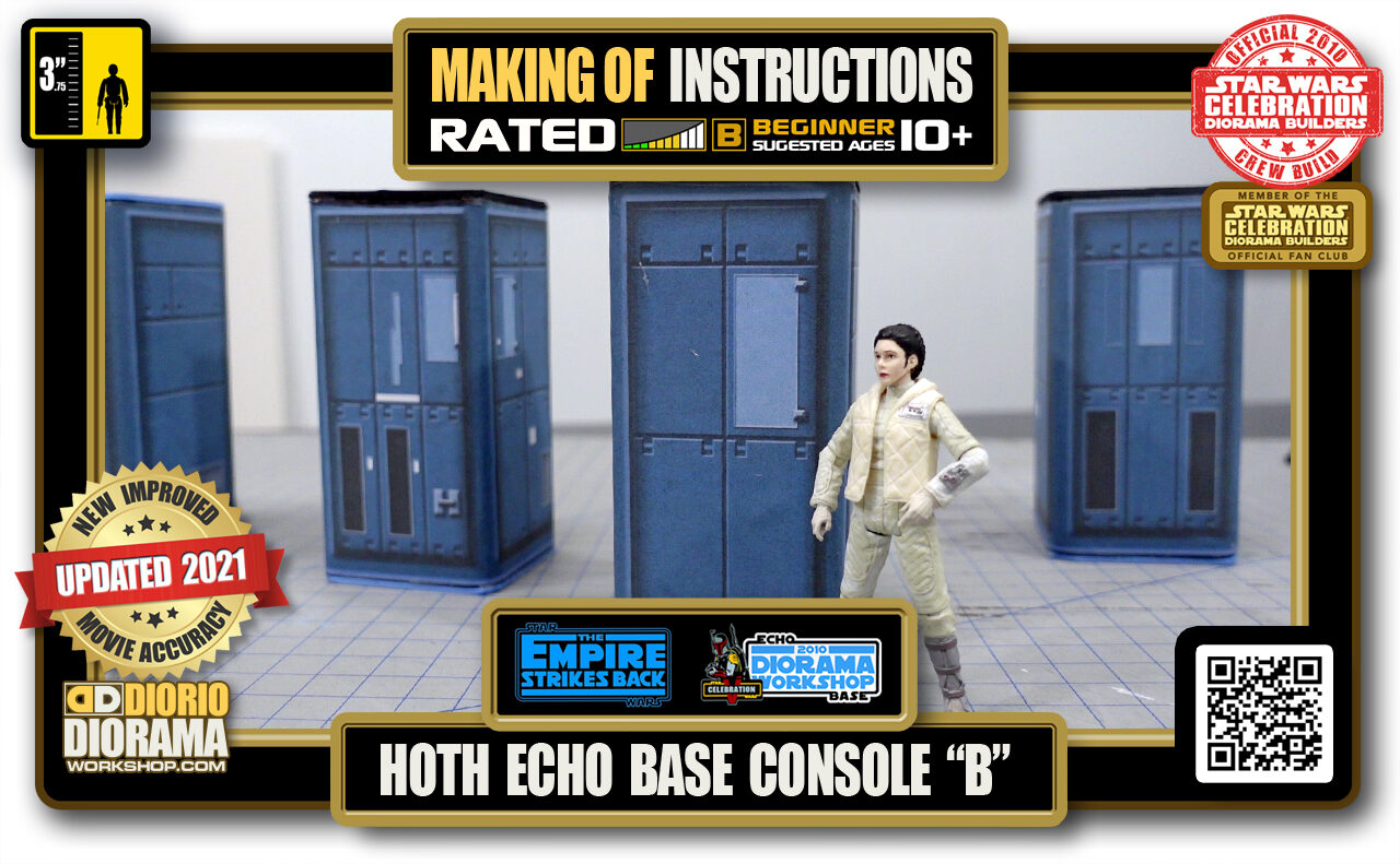 """TUTORIALS • MAKING OF • STEP BY STEP INSTRUCTIONS • STAR WARS EPISODE V • HOTH • ECHO BASE CONSOLE """"B"""""""