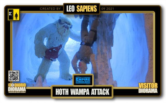 VISITORS HD FULLSCREEN DIORAMA • LEO SAPIENS • STAR WARS EPISODE V • HOTH  • WAMPA ATTACK