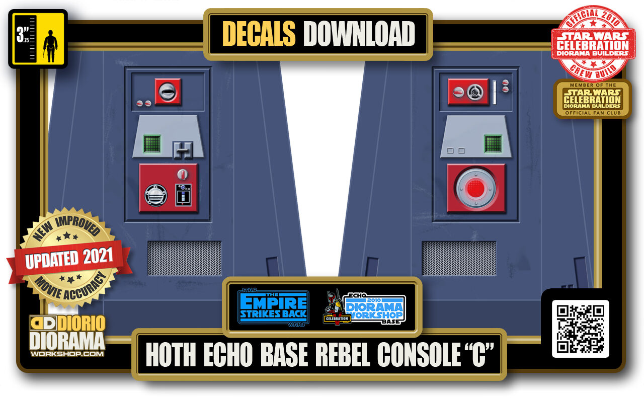 "TUTORIALS • DECALS • HOTH • ECHO BASE REBEL CONSOLE ""C"" 2021"