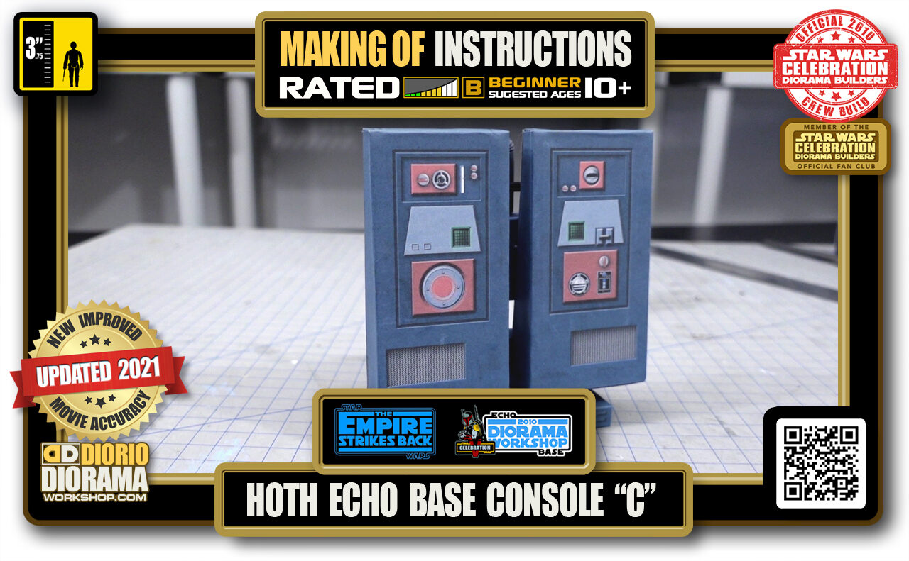 """TUTORIALS • MAKING OF • STEP BY STEP INSTRUCTIONS • STAR WARS EPISODE V • HOTH • ECHO BASE CONSOLE """"C"""""""