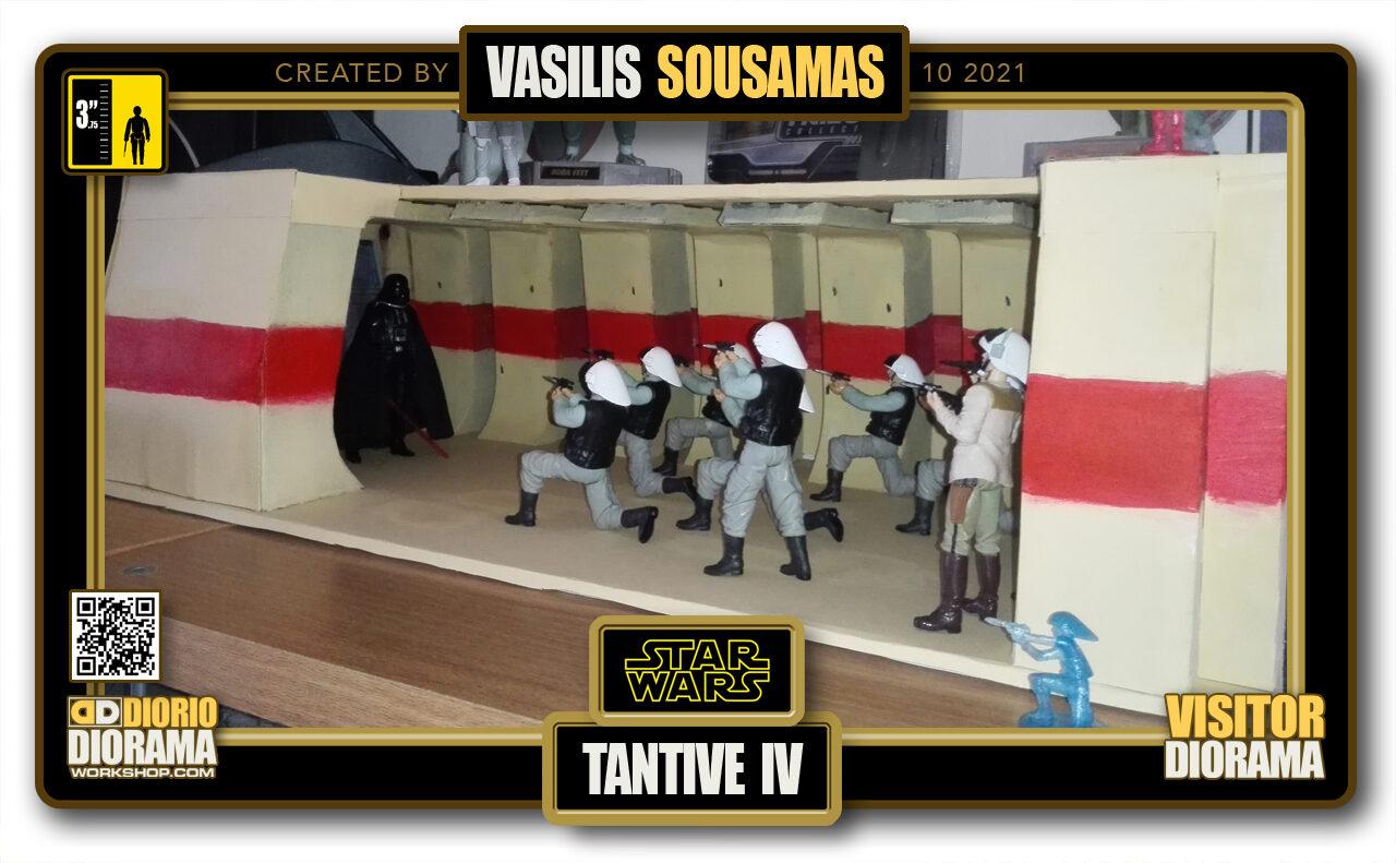VISITORS HD FULLSCREEN DIORAMA • VASILIS SOUSAMAS • STAR WARS EPISODE IV • TANTIVE IV ATTACK