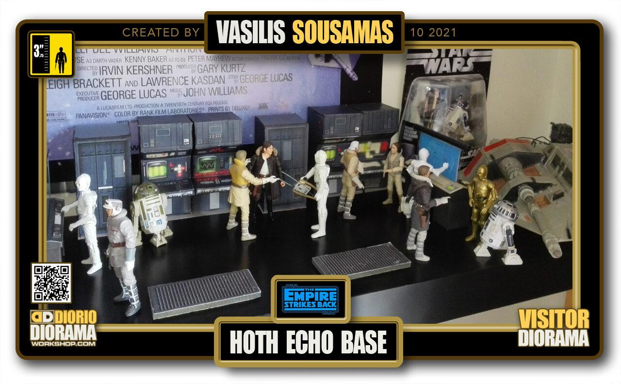 VISITORS HD FULLSCREEN DIORAMA • VASILIS SOUSAMAS • STAR WARS EPISODE V • HOTH • ECHO BASE